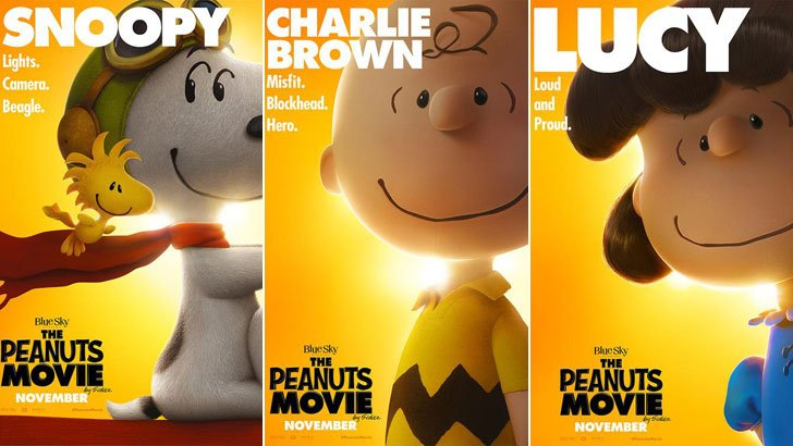 Peanuts Movie character posters