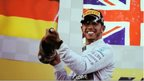 Lewis Hamilton after a victory