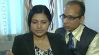 Mousomi Shabnam and her husband Mohammed Amin