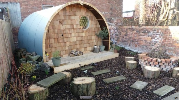 The Hobbit House shed in Merseyside
