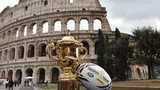 Rugby World Cup trophy in Rome