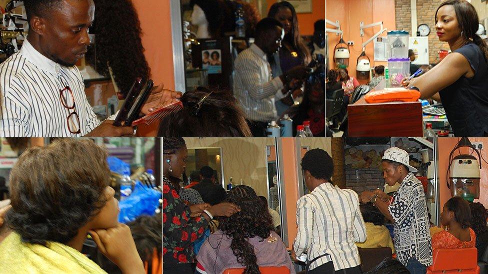 Bruno's Place hair salon in Ikeja Mall in Lagos, Nigeria