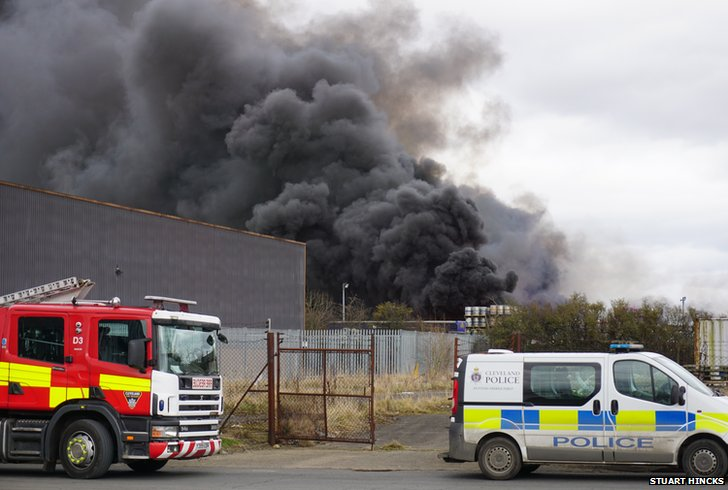 Fire at Eaglescliffe