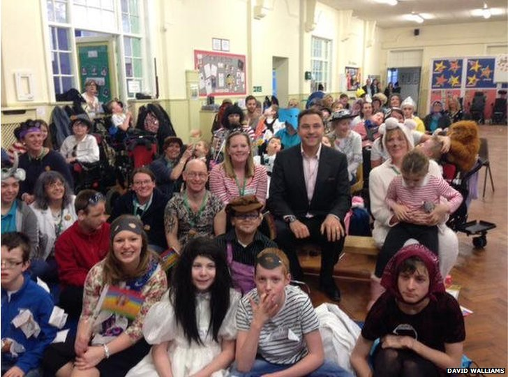 David Walliams at Northern Counties School