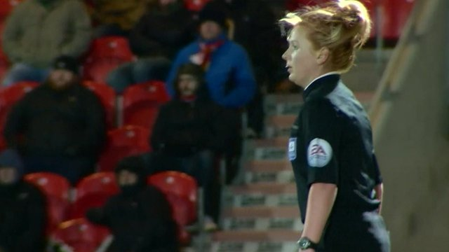 VIDEO: Sexist abuse in football matches...
