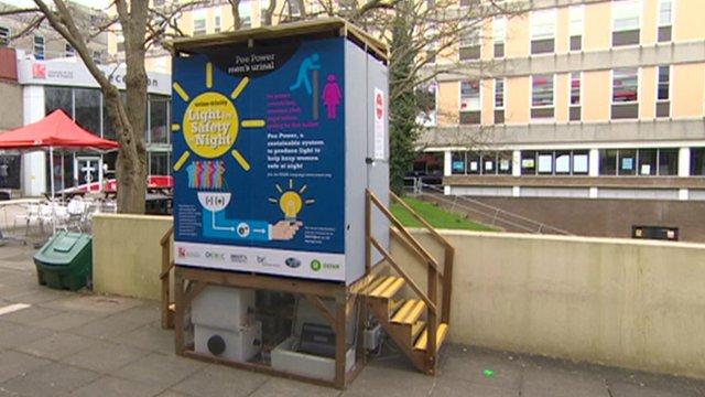 VIDEO: Revolutionary urinal 'makes energy'...