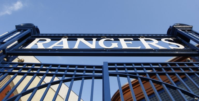 A general view of the Ibrox Stadium, in Glasgow,
