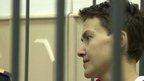 Nadiya Savchenko behind bars