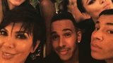 Lewis Hamilton and friends at Paris Fashion Week