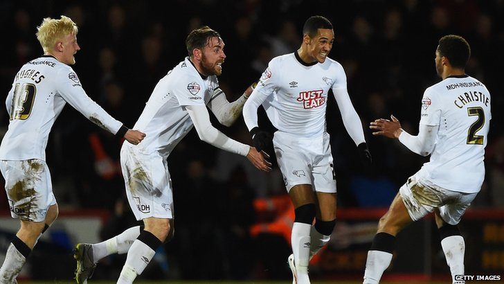 Tom Ince goal celebration