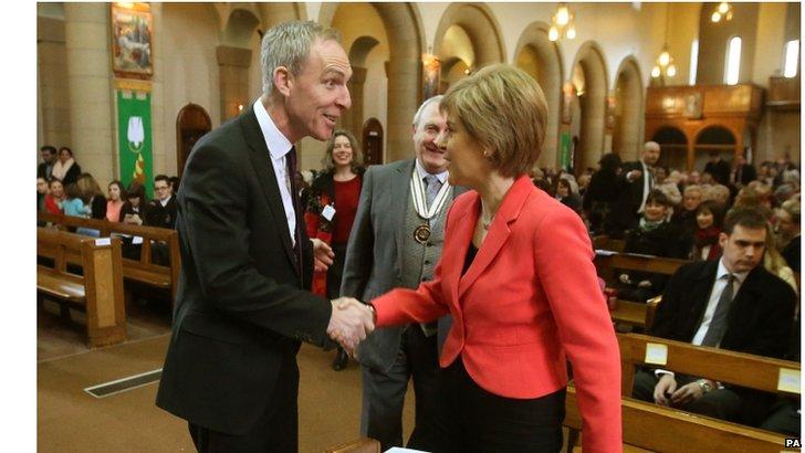 Scottish Labour leader Jim Murphy MP and SNP leader Nicola Sturgeon MSP