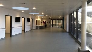 Patient waiting area at the new Queen Elizabeth Hospital centre