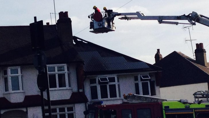 Firefights at a home in Bounds Green