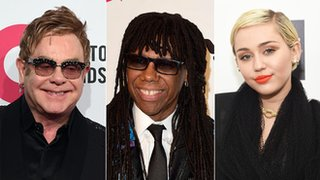 BBC News - Nile Rodgers: 'Chic song will feature Elton and Miley'