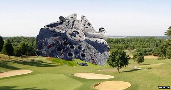 Millennium Falcon spoof