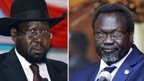 President Salva Kiir (left) and rebel commander Riek Machar. File photo