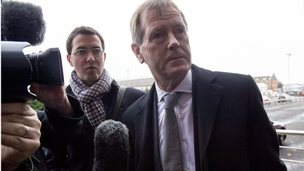 Dave King arrives at Ibrox