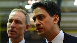 Labour leader Ed Miliband and Jim Murphy, leader of the Scottish Labour Party