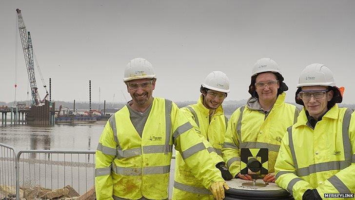 Merseylink's general construction apprentices Ian Ratcliffe, Sean Teeling, Kyle Crane and Matthew Shaw