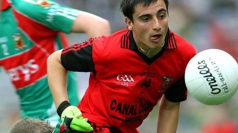 Ross McGarry in action for Down minors in 2009