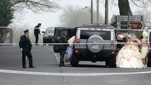The shooting happened in the grounds of the Church of the Immaculate Conception in Newtownbutler