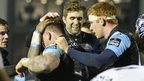 Glasgow Warriors players celebrating