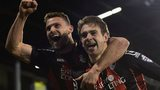Bournemouth's Steve Cook and Brett Pitman celebrate