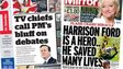 The i and Daily Mirror front pages