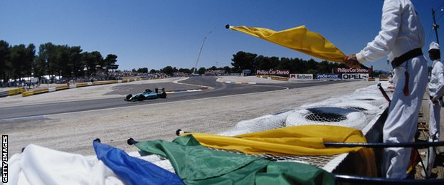 F1 flags at 1990 French Grand Prix