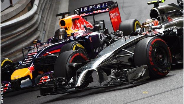 Sebastian Vettel and Kevin Magnussen