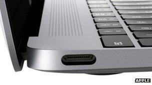 MacBook USB-C port