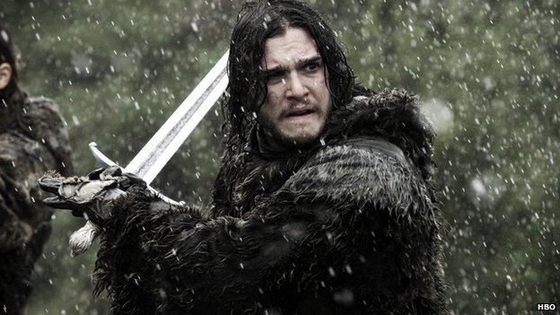 Jon Snow wields his Longclaw sword
