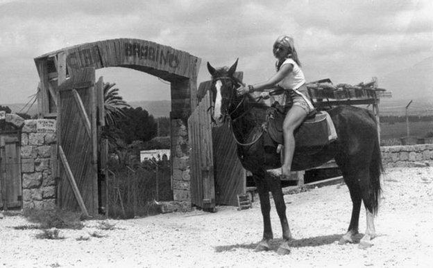 Rina on horseback 1960s