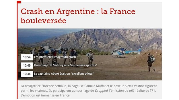 Le Figaro live page on 10 March 2015
