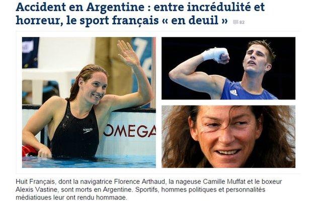 Le Monde online frontpage, 10 March 2015