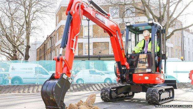 Boris digging up CSNS