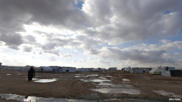 refugee camp near the border with Syria