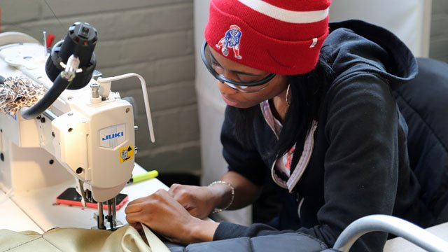 Seamstress at work - The Empowerment Plan employs homeless people