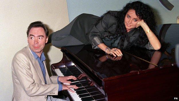 Andrew Lloyd Webber and Sarah Brightman in 1991