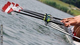 Rowers in a Fine boat