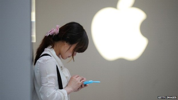 Chinese woman with iphone