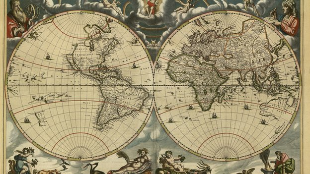 Old World New World Map