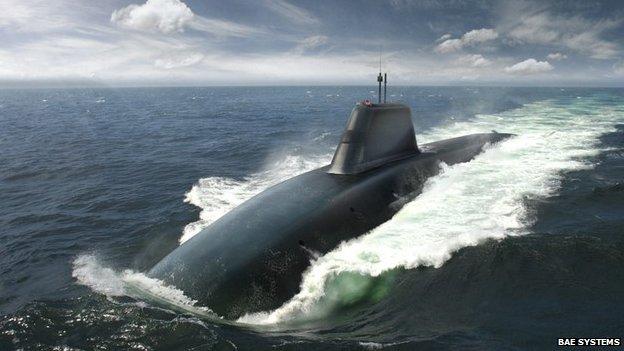 Artist's impression of Successor submarine