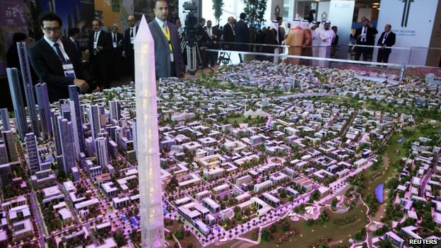 Model of new capital at conference in Sharm el-Sheikh. 13 March 2015