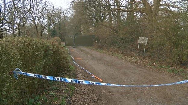 Body found in burning car in field near Ifield Golf Club