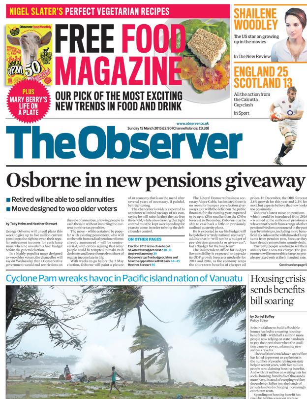 Newspaper headlines budget gifts clarkson fall out vanuatu