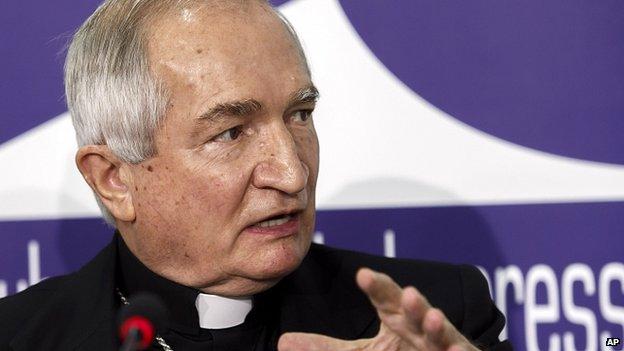 Arcivescovo Silvano Tomasi. 12 Gennaio 2015