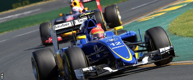 Rookie driver Felipe Nasr impressed finishing 5th. Sauber failed to win any points last season but have picked up 10 already in 2015