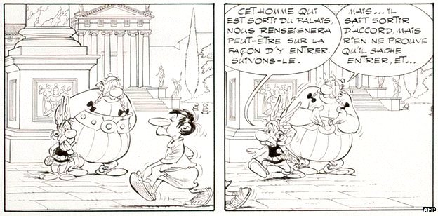 A panel from the cartoon that was sold in Paris