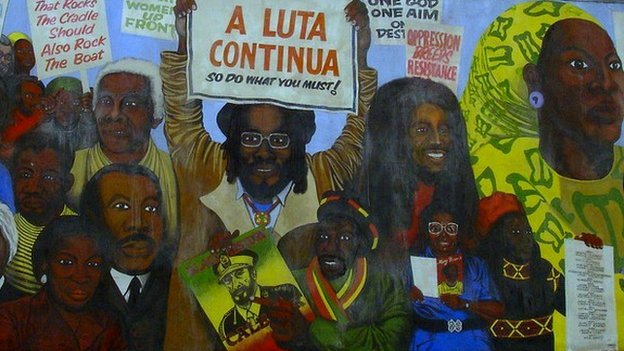 Bbc news reading 39 s central club revamp in 39 cultural for Black history mural